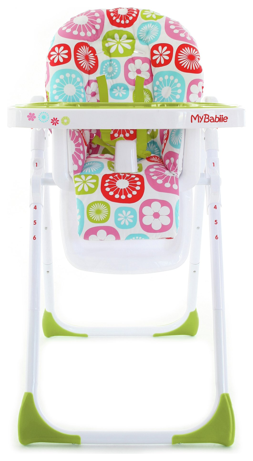 my babiie mbhc8fl floral highchair