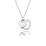 more details on Accents by Hot Diamonds Silver Double Heart Pendant.