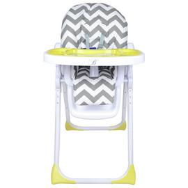 My Babiie Billie Faiers MBHC8ZZ Grey Chevron Highchair.