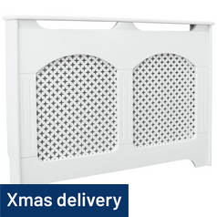 Argos Home Winterfold Medium Radiator Cover - White