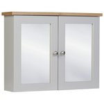 more details on Heart of House Livingston Mirror Wall Cabinet - Grey & Pine