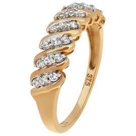 Revere 9ct Yellow Gold Cubic Zirconia Eternity Ring