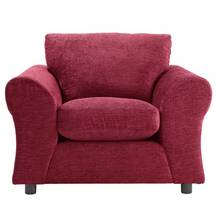 HOME New Clara Fabric Armchair - Red