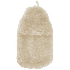 Hot Water Bottle and Fur Cover - Cream