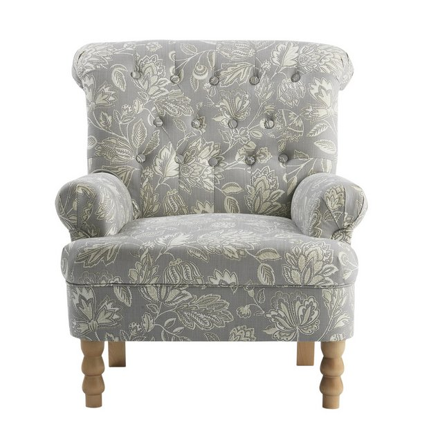 Buy Heart of House Darcy Fabric Chair - Floral at Argos.co ...