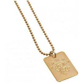 Gold Plated Rangers Dog Tag & Ball Chain.
