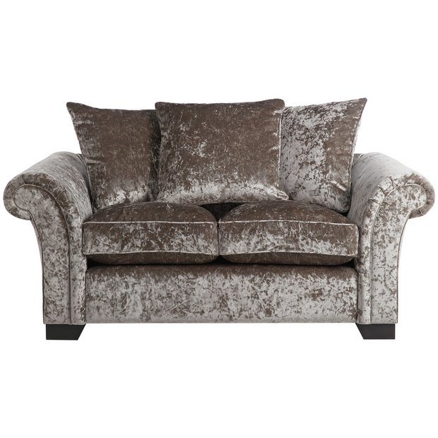 Buy home glitz 2 seater fabric sofa mink at your online shop for sofas living Buy home furniture online uk