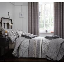 Dreams N Drapes Hanworth Charcoal Bedding Set - Single