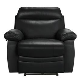 Argos Home Paolo Leather Mix Power Recliner Chair - Black