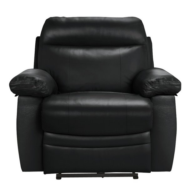 Buy Collection New Paolo Power Recliner Chair Black At