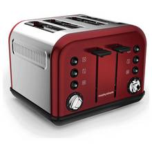 Morphy Richards 242030 Accents 4 Slice Toaster - Red