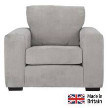 Heart of House Eton Fabric Armchair - Grey