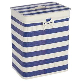 Premier Housewares Kankyo Bamboo Laundry Hamper - Nautical.