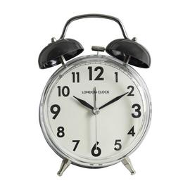 London Clock Company Twin Bell Alarm Clock - Black