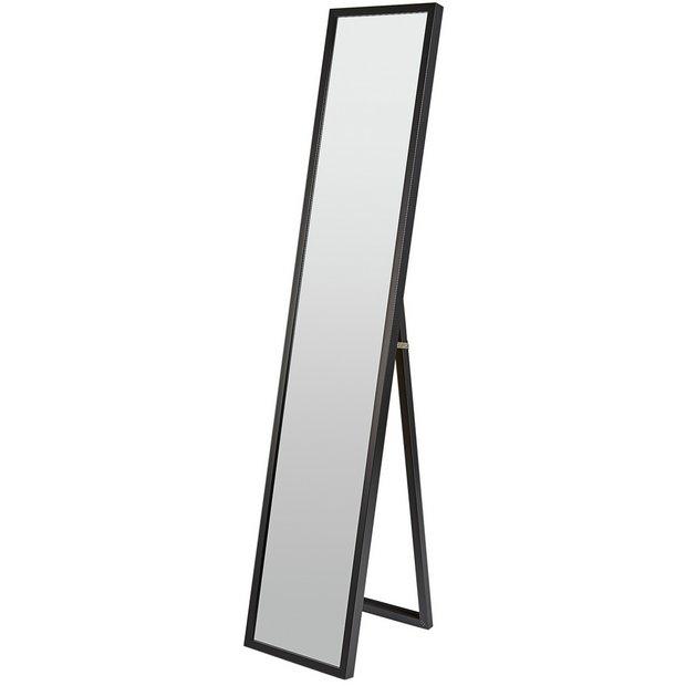 Buy home full length chevel mirror black at for Where to buy full length mirrors