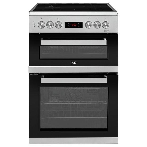 buy beko kdc653s electric cooker silver freestanding. Black Bedroom Furniture Sets. Home Design Ideas