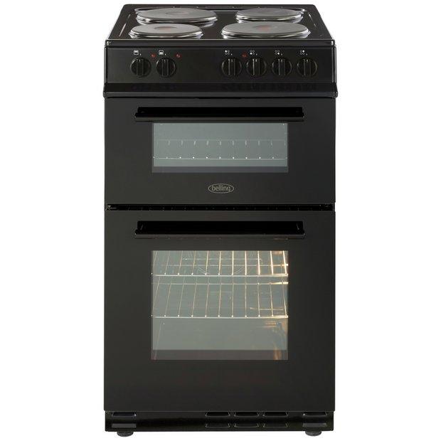 buy belling fs50efdo electric cooker black at. Black Bedroom Furniture Sets. Home Design Ideas