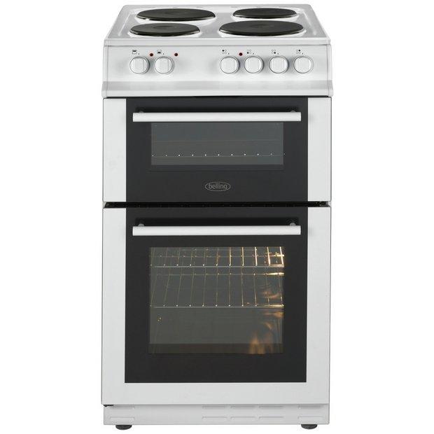 buy belling fs50efdo double electric cooker white at. Black Bedroom Furniture Sets. Home Design Ideas