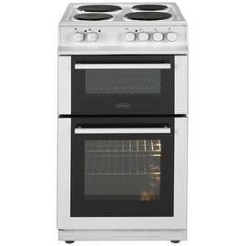 Belling FS50EFDO 50cm Double Oven Electric Cooker - White