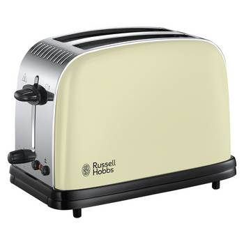 Russell Hobbs 23334 Colours+ 2 Slice Toaster - Cream