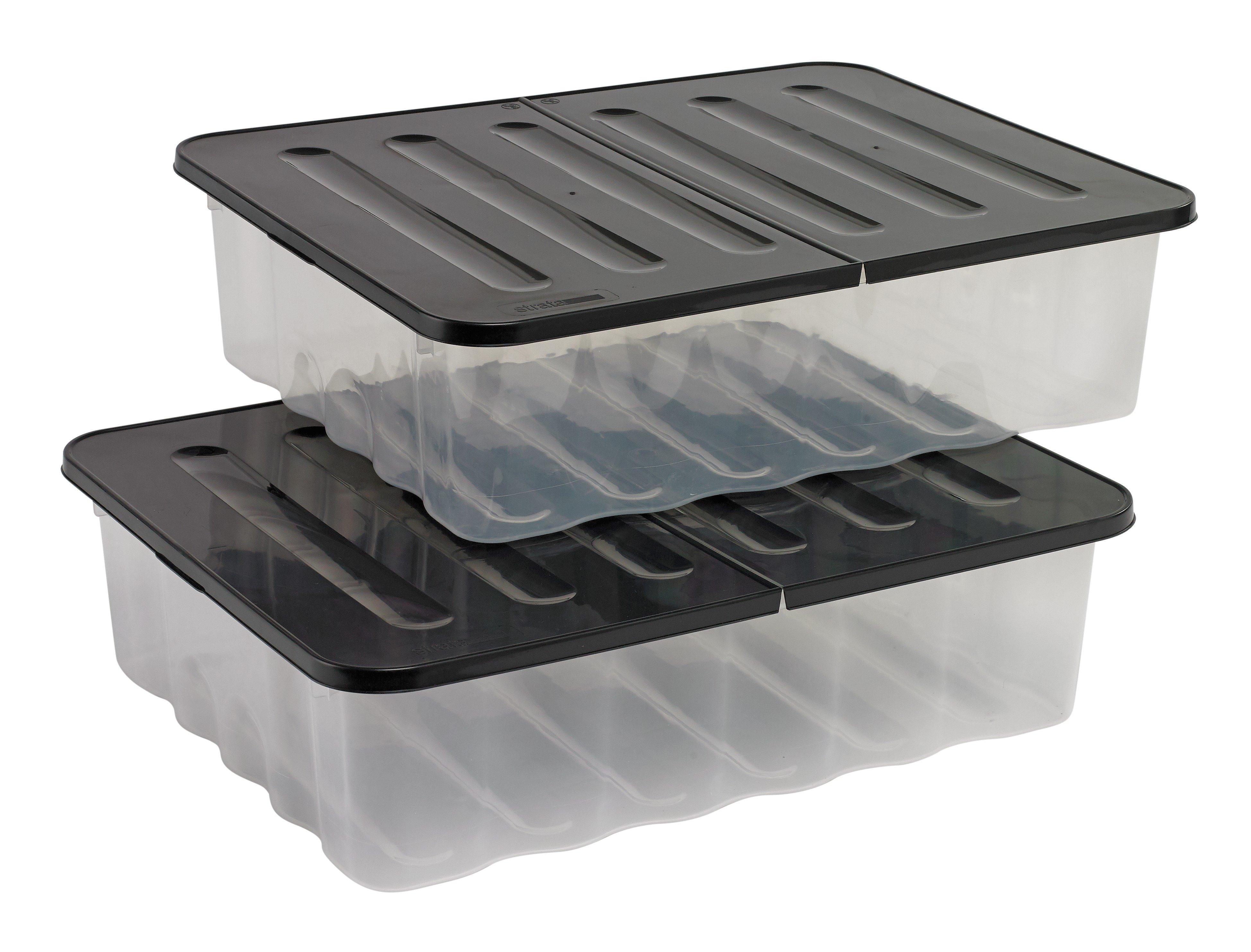 home supa nova 30 litre underbed storage boxes set of 2