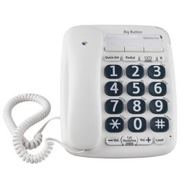 BT 200 Big Button Corded Telephone - Single