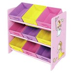 more details on Liberty House Princess Toy Storage Unit with 9 Fabric Bins.