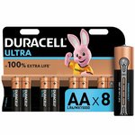 more details on Duracell Ultra Power Alkaline AA Batteries - Pack of 8.