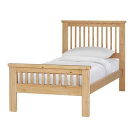 Argos Home Aubrey Single Bed Frame - Oak Stain