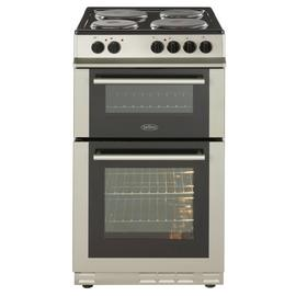 Belling FS50EFDO 50cm Double Oven Electric Cooker - Silver Best Price, Cheapest Prices