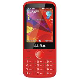SIM Free Alba Mobile Phone - Red