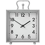 more details on Heart of House Tuscany Square Mantel Clock - Silver.