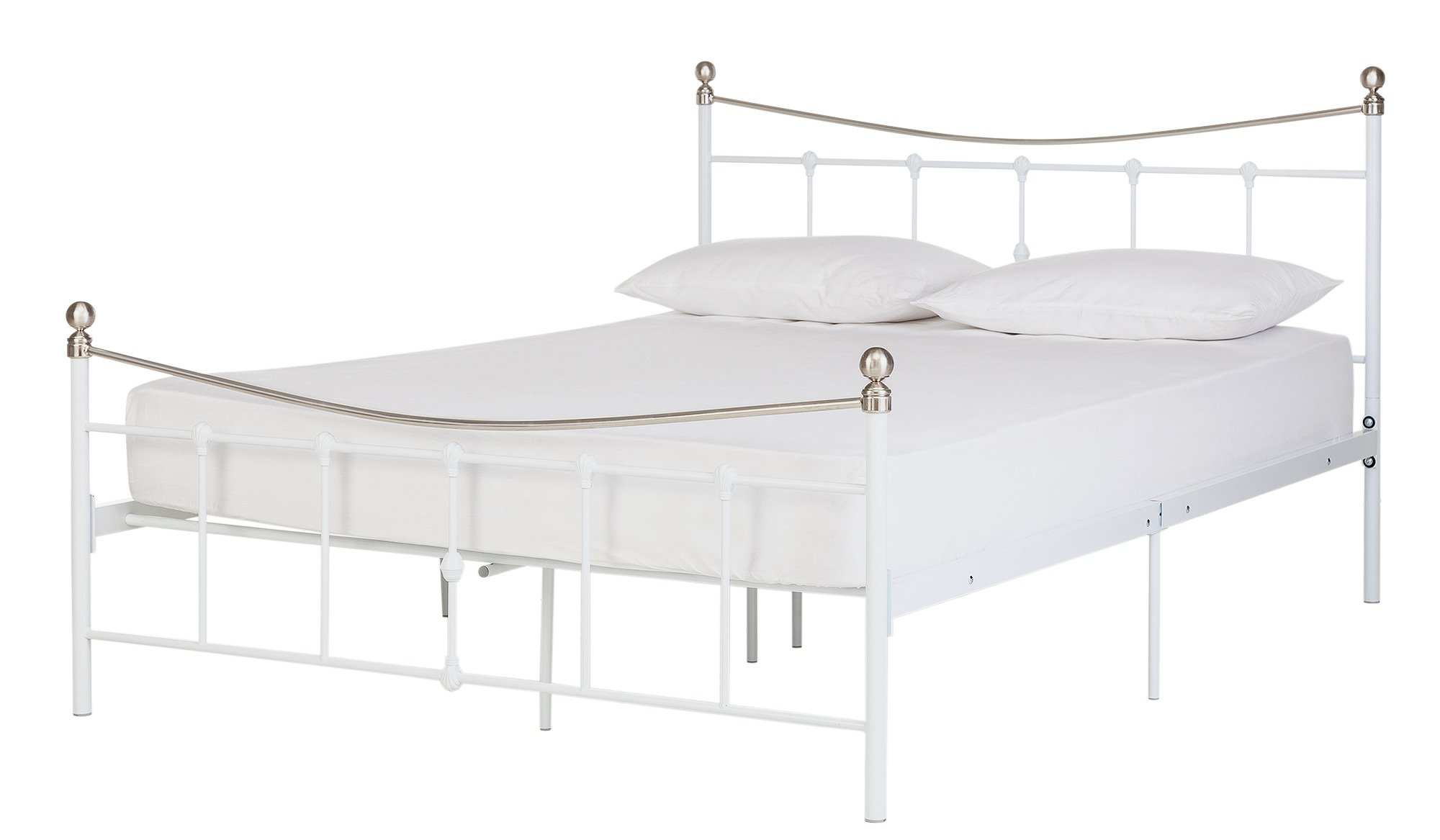 100 kaapo matt pu leather king size bed frame in white buy