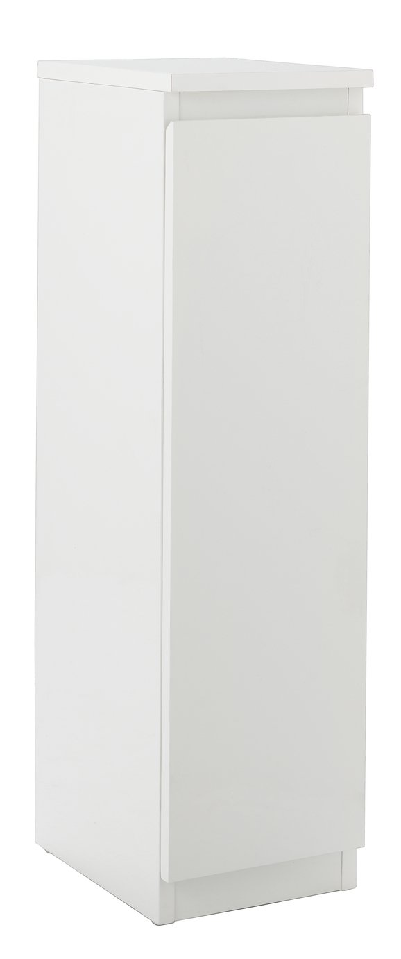 Buy Hygena Gloss Bathroom Floor Cabinet   White | Bathroom Shelves And  Storage Units | Argos