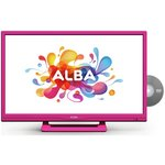 more details on Alba 24 Inch HD Ready LED TV/DVD Combi - Pink.