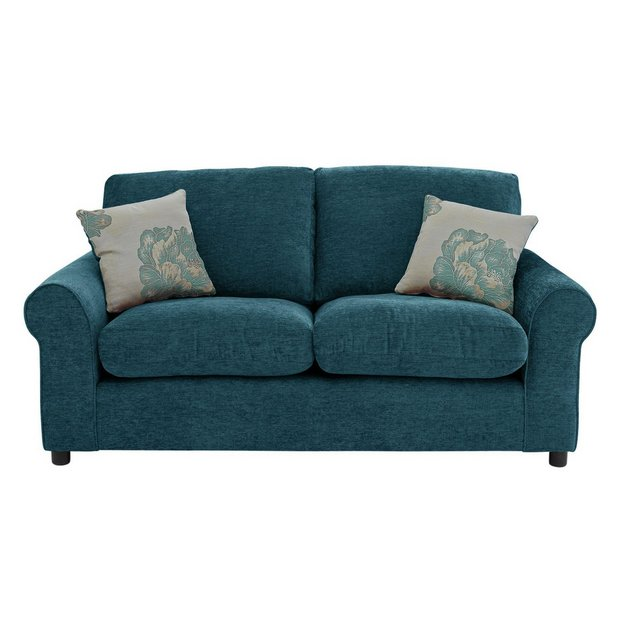 Buy Home Tessa Compact 3 Seater Fabric Sofa Teal At