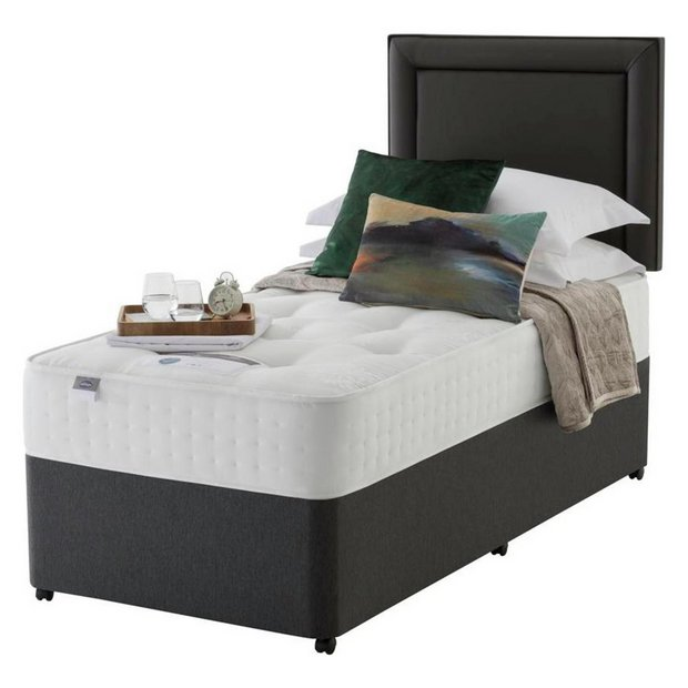 Buy silentnight levison pocket sprung luxury divan single at your online shop Argos single divan beds