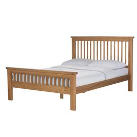 Argos Home Aubrey Kingsize Bed Frame - Oak Stain