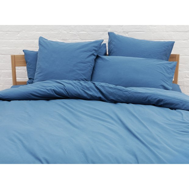 buy habitat washed single bed linen set teal at. Black Bedroom Furniture Sets. Home Design Ideas