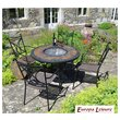 Durango Patio Table with 4 Treviso Chairs