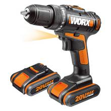 WORX MaxLithium Cordless Drill Driver with 2 20V Batteries