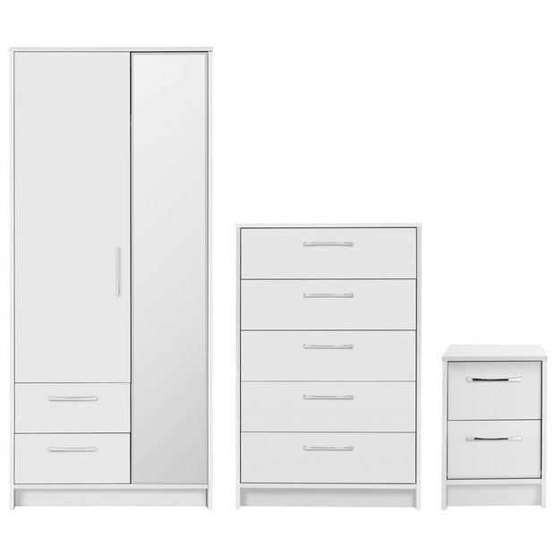 Buy Collection Tilbury 3 Piece Bedroom Package White At Your Online Shop For