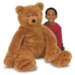 more details on Melissa and Doug Jumbo Brown Teddy Bear Plush.