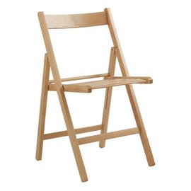Argos Home Wooden Folding Chair - Natural