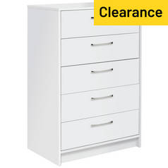 Argos Home Tilbury 5 Drawer Chest - White