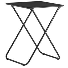 Habitat Airo Foldable Metal 2 Seater Dining Table - Black