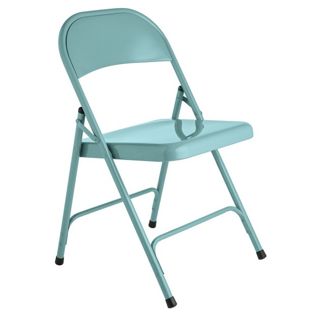 Buy Habitat Macadam Blue Metal Folding Chair At Your Online Sho