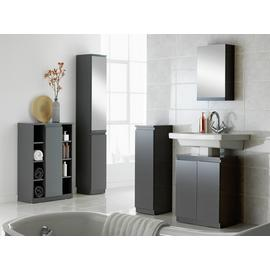 Argos Home Gloss Wall Cabinet - Grey