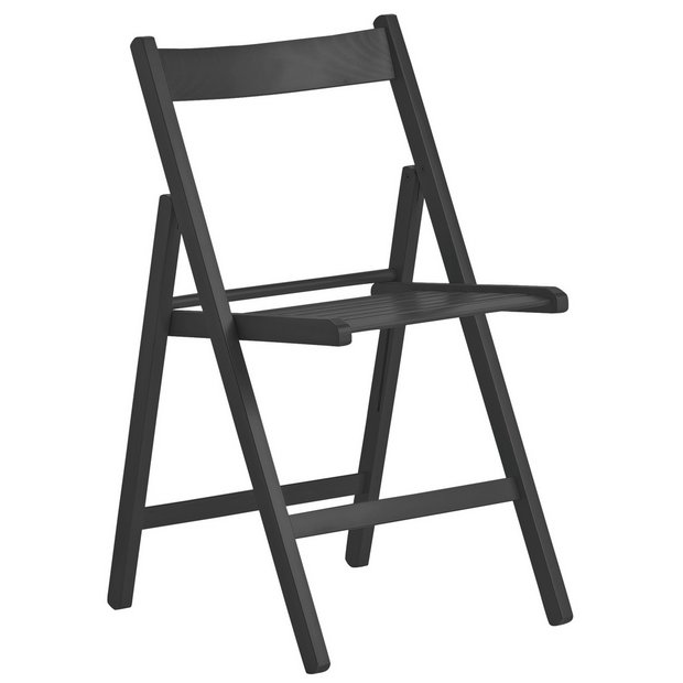 Buy Home Wooden Folding Chair Black At Argos Co Uk