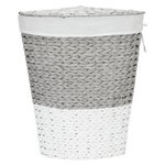 more details on HOME 45 Litre Corner Rope Laundry Bin - Grey and White.